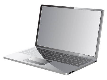 blank computer screen:  laptop icon