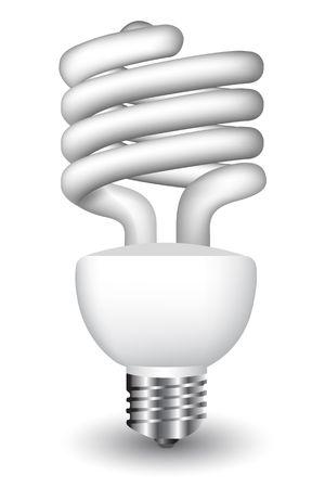 electric bulb: Energy efficient spiral light bulb Illustration