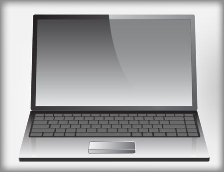 Realistic  laptop icon Vector