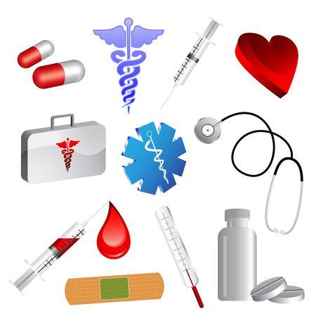 injectie: Collectie van medische pictogrammen