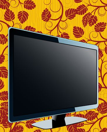 Floral TV Stock Vector - 6747815
