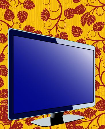 Floral TV  Stock Vector - 6747811