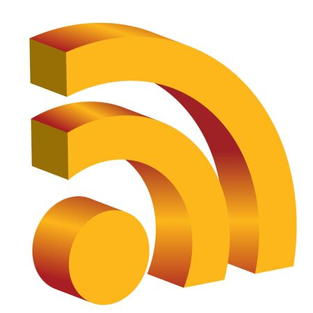 3d rss icon  Vector