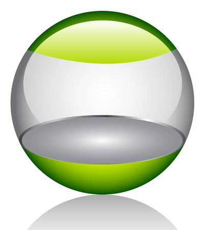 3d glossy orb  Stock Vector - 6747767