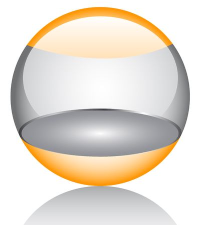 3d glossy orb Stock Vector - 6747700