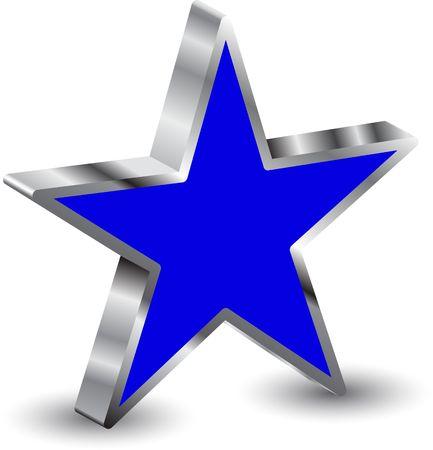 3d star Stock Vector - 6747771