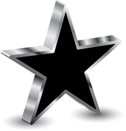 estrella caricatura: estrella 3D