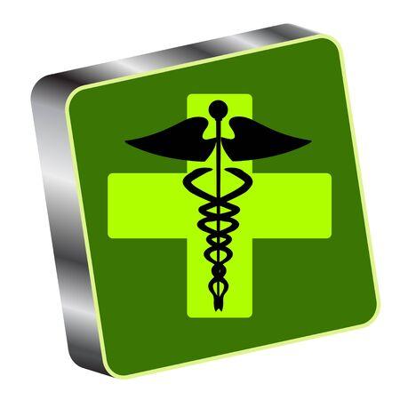 Medical caduceus  Vector
