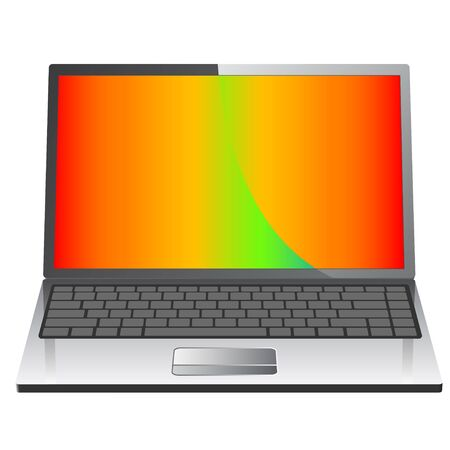 Realistic laptop icon  Stock Vector - 6833183