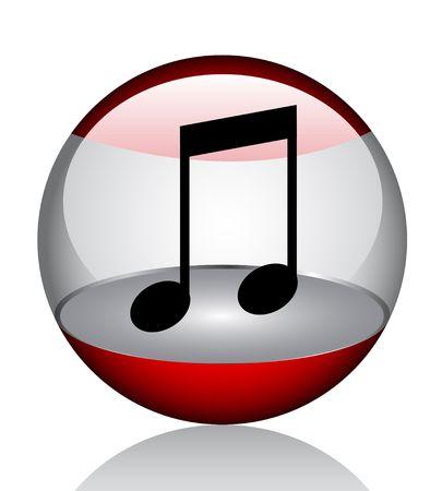 Music icon  Stock Vector - 6833147
