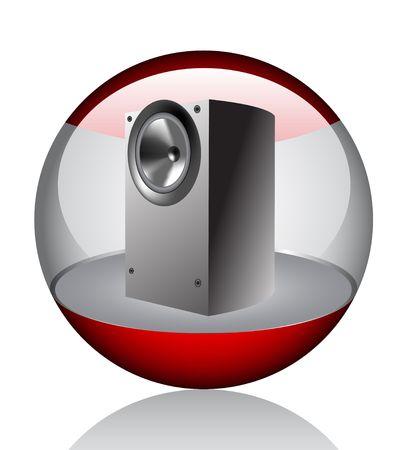 sub woofer: Speaker  Illustration