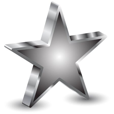 five stars: 3d star  Illustration
