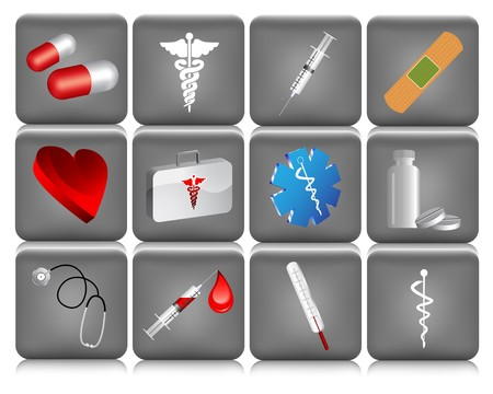 roentgen: Collection of medical icons  Illustration