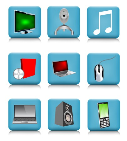 Set of tech icons Stock Vector - 7100029