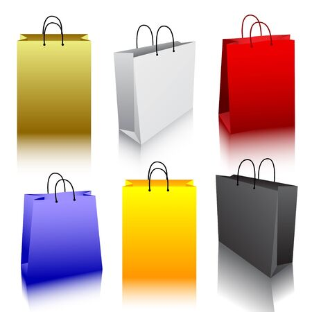 Shopping bag collection  Illustration