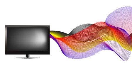 TV with waves  Stock Vector - 7233160