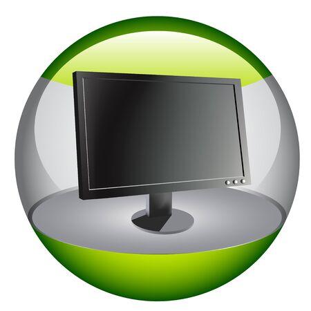 Computer monitor Stock Vector - 7233145