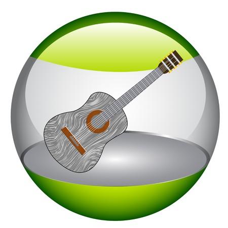 Acoustic guitar  Illustration