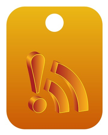 really simple syndication: 3d rss icon