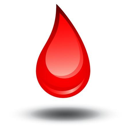 erythrocyte: Goccia di sangue  Vettoriali