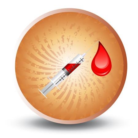 Medical syringe  Vector