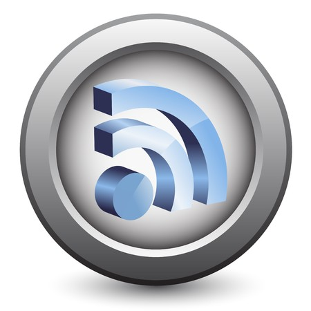 news reader: 3d rss icon