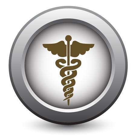 simbolo medicina: M�dico caduceo  Vectores