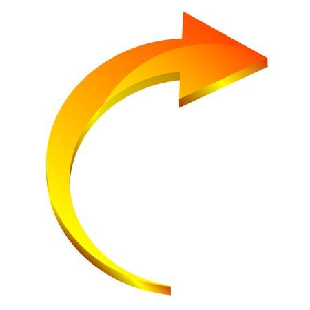 flecha direccion: flecha 3D