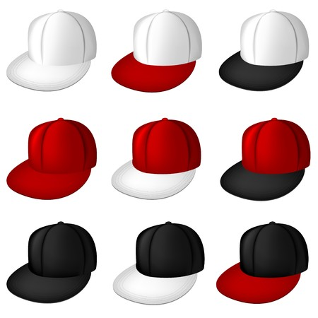 Collection of   full caps  Vector