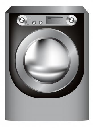 button front:   washing machine  Illustration