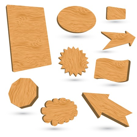 3d wood  labels  Stock Vector - 8001628