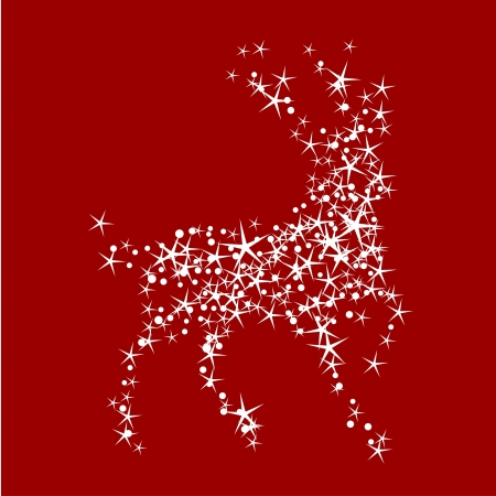 Holiday background with magic christmas reindeer