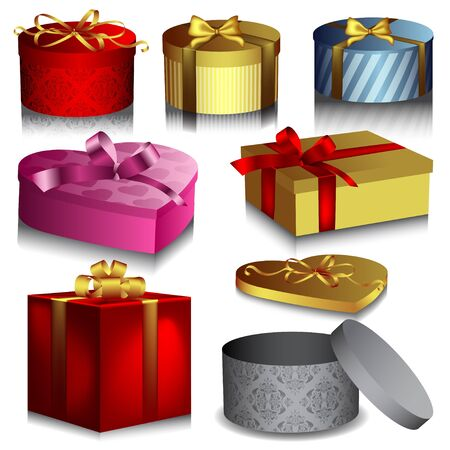 Verzameling van geschenk dozen