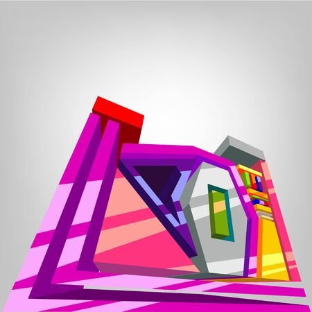 person shined: Abstract 3d design element