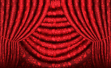 Curtain background photo