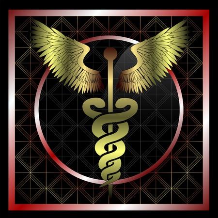 caduceo: Oro caduceo médica