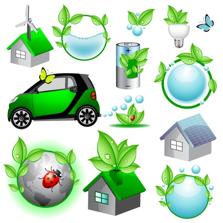 eco icons and concepts collection Stock Vector - 8767166