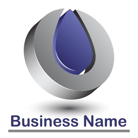 business logos: 3d abstract logo Illustration
