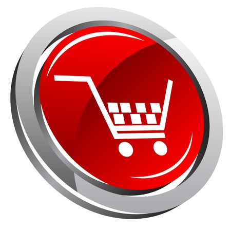 Shopping cart icon  Stock Vector - 8767175