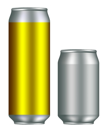 drink can: Realistic canister for cold drinks Illustration