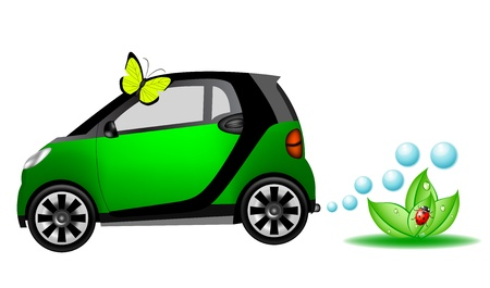 exhaust gases: Beautiful eco car