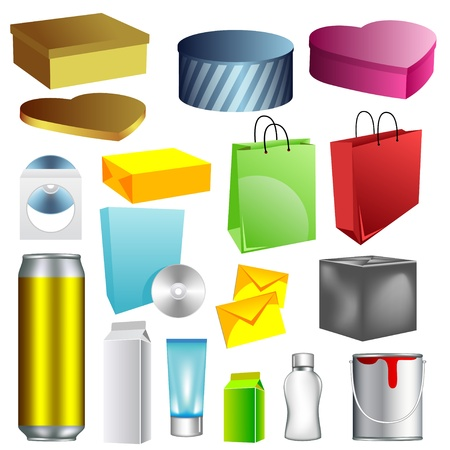 Blank dummies packaging templates collection. second version. Stock Vector - 8767657