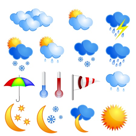 storm rain: Weather icon set