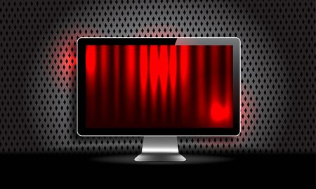 lcd: Lcd monitor with red screen