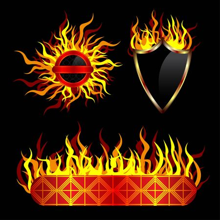 Fiery vector templates Vector