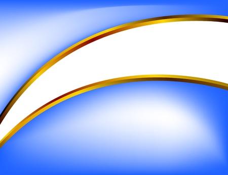 Blue background with golden divider Vector