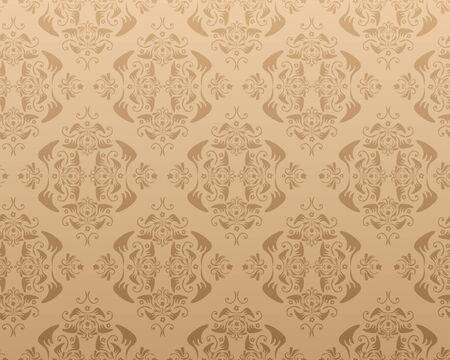 Seamless damask vector wallpaper or background Vector
