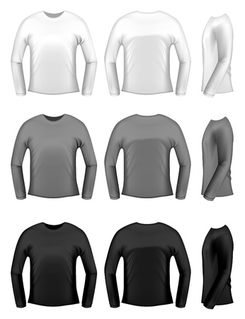 Mens t-shits with long sleeves Vector