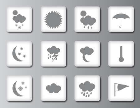 Weather icon set 2 Vector