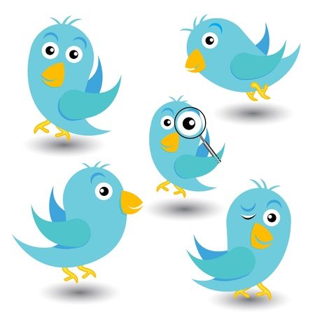 Aantal blauwe vogels